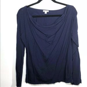 Gap Size Medium Navy Blue Long Sleeve Lux Drape